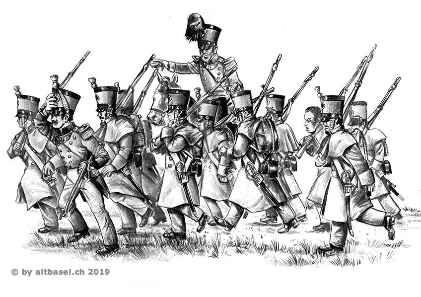 illustration gruppe standessoldaten